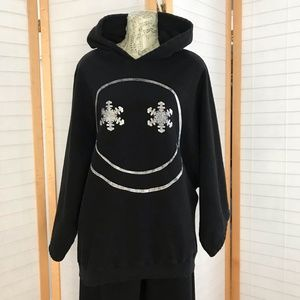 Sz L Jak Vanek black track suit snow flake smiley